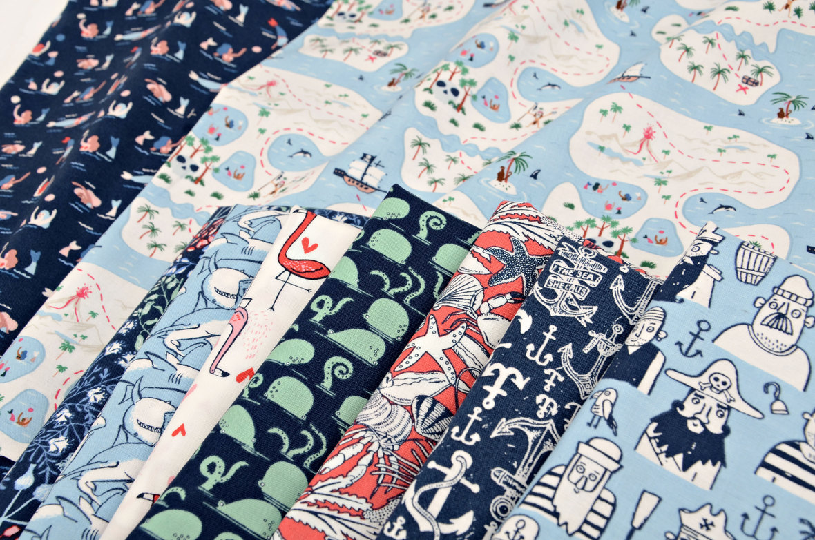 Bootylicious-Fabric-Nautical-from-Dear-Stella-at-Hawthorne-Supply-Co