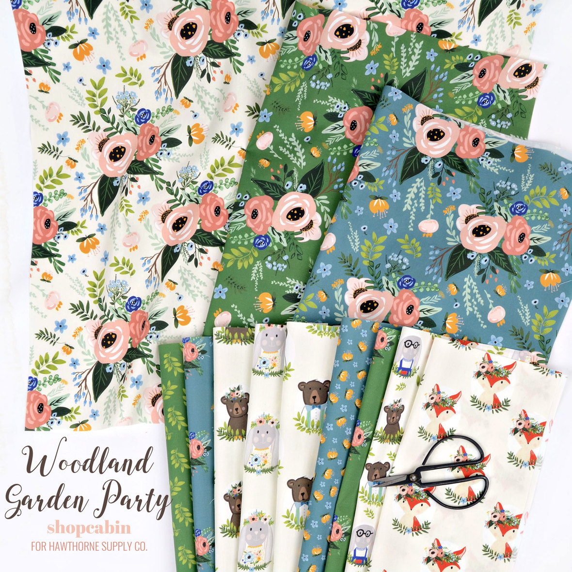 Poster-Woodland-Garden-Party-Shopcabin-fabric-at-Hawthorne