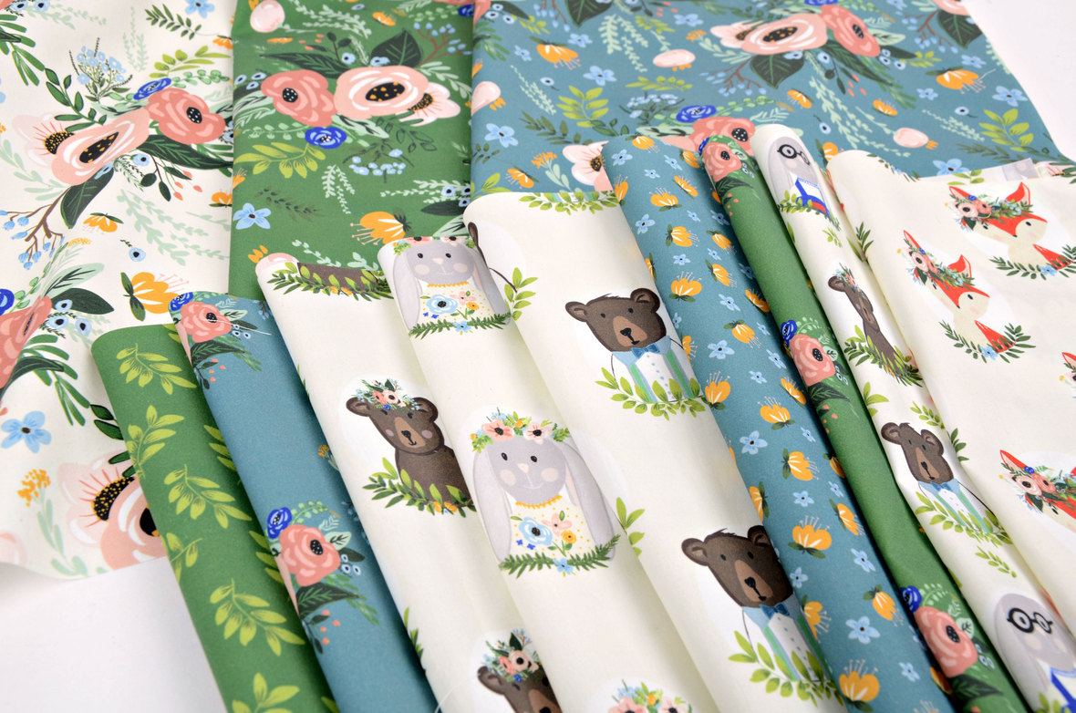 Close up Woodland-Garden-Party-Shopcabin-fabric-at-Hawthorne