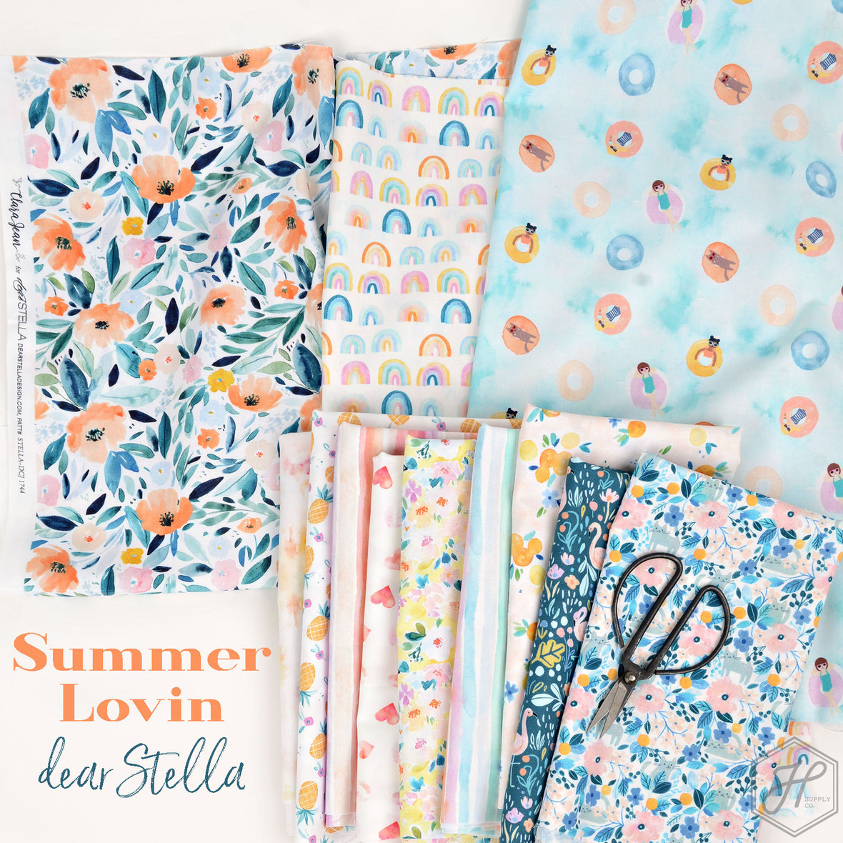 Summer-Lovin-fabric-Dear-Stella-and-Clara-Jean-at-Hawthorne-Supply-Co