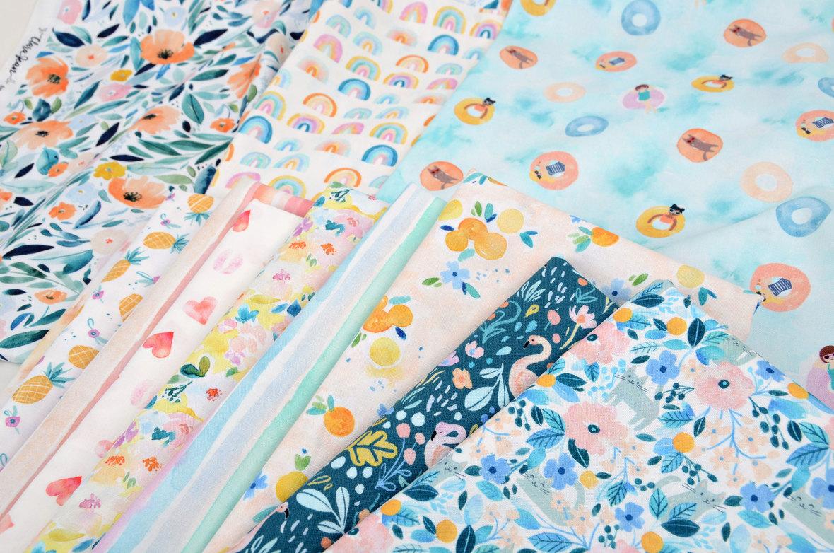 Close-Up-Summer-Lovin-fabric-Dear-Stella-and-Clara-Jean-at-Hawthorne-Supply-Co