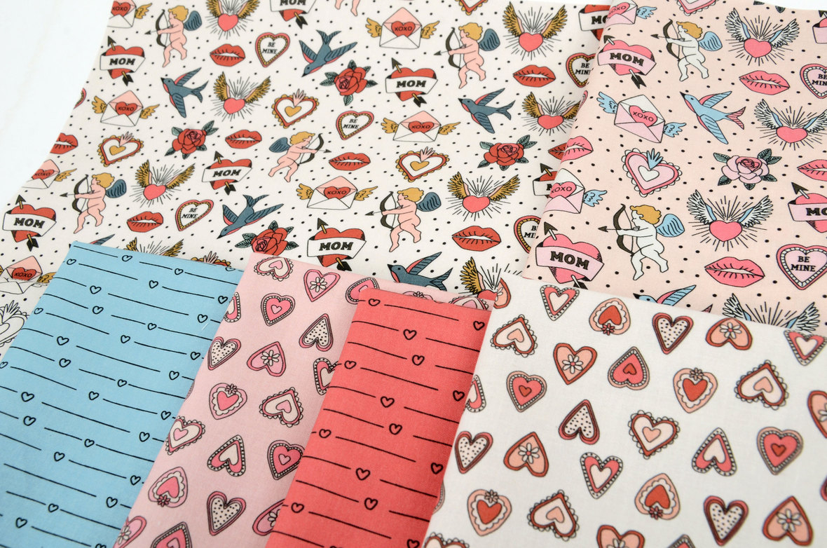 Close-UP-Vintage-Valentine-Fabric-Hey-Cute-Design-for-Hawthorne-Supply-Co