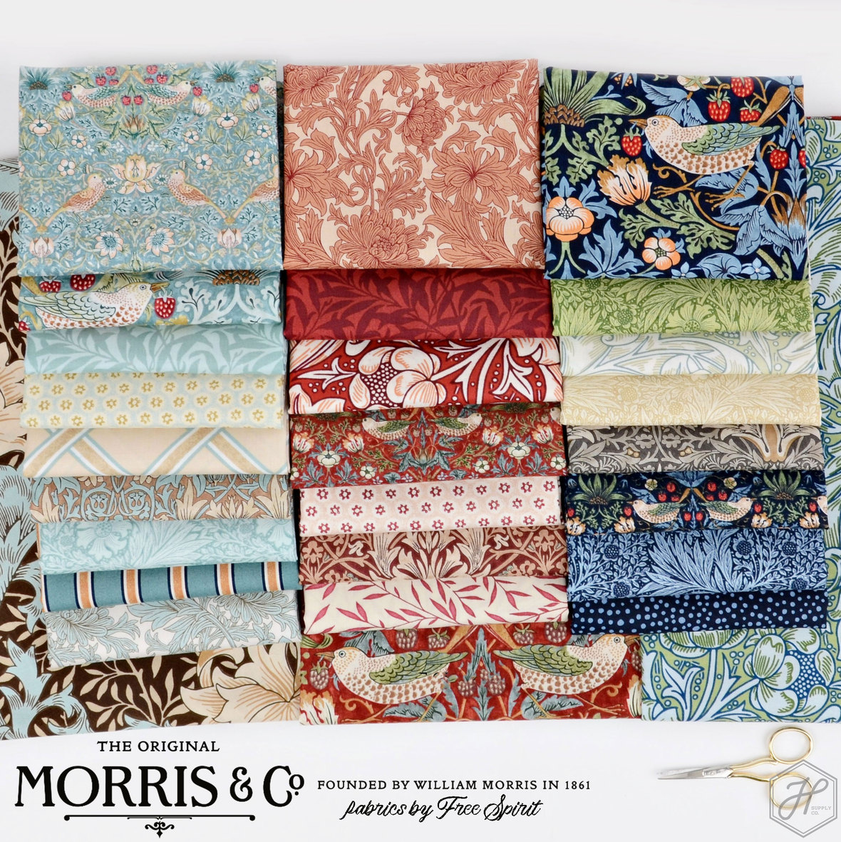 Morris-and-Co-Classics-Fabric-for-Free-Spirit-at-Hathorne-Supply-Co