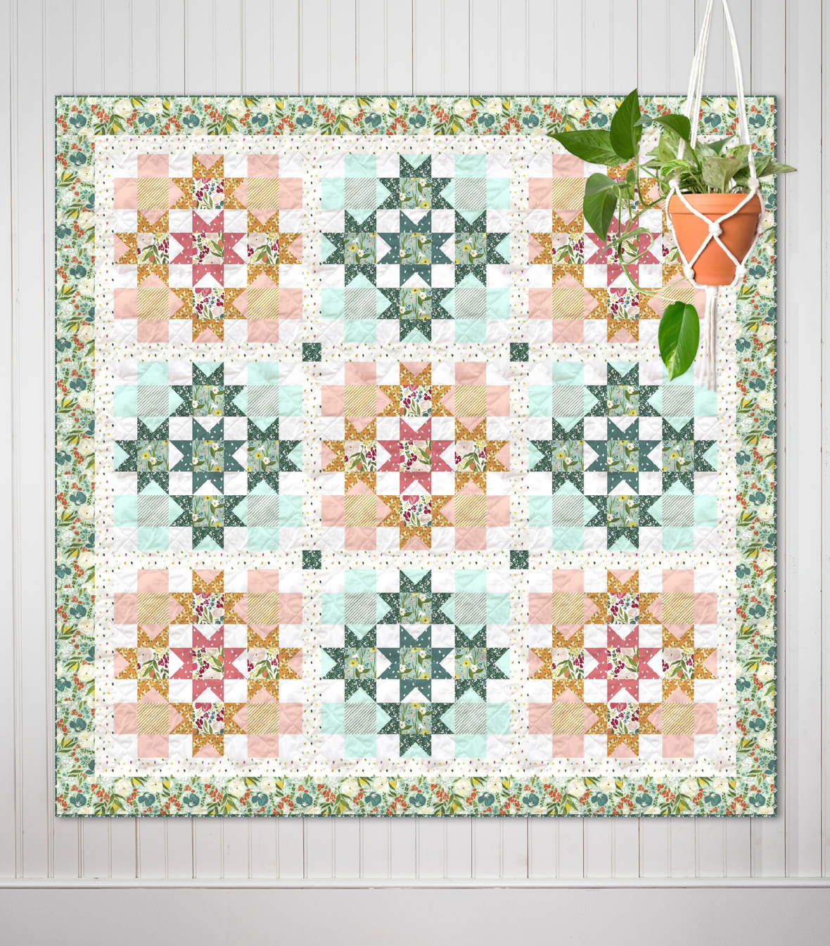 Day Lilies Free Quilt Pattern from Windham