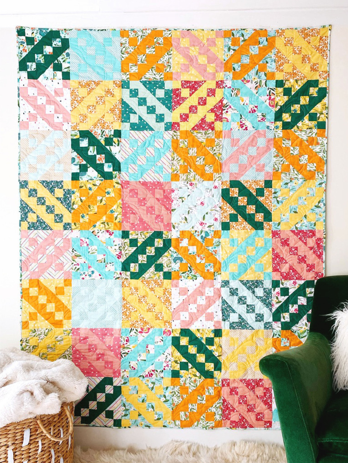 Jacobs Ladder quilt pattern by Jilie Baird free block pattern at generations quilt patterns 2