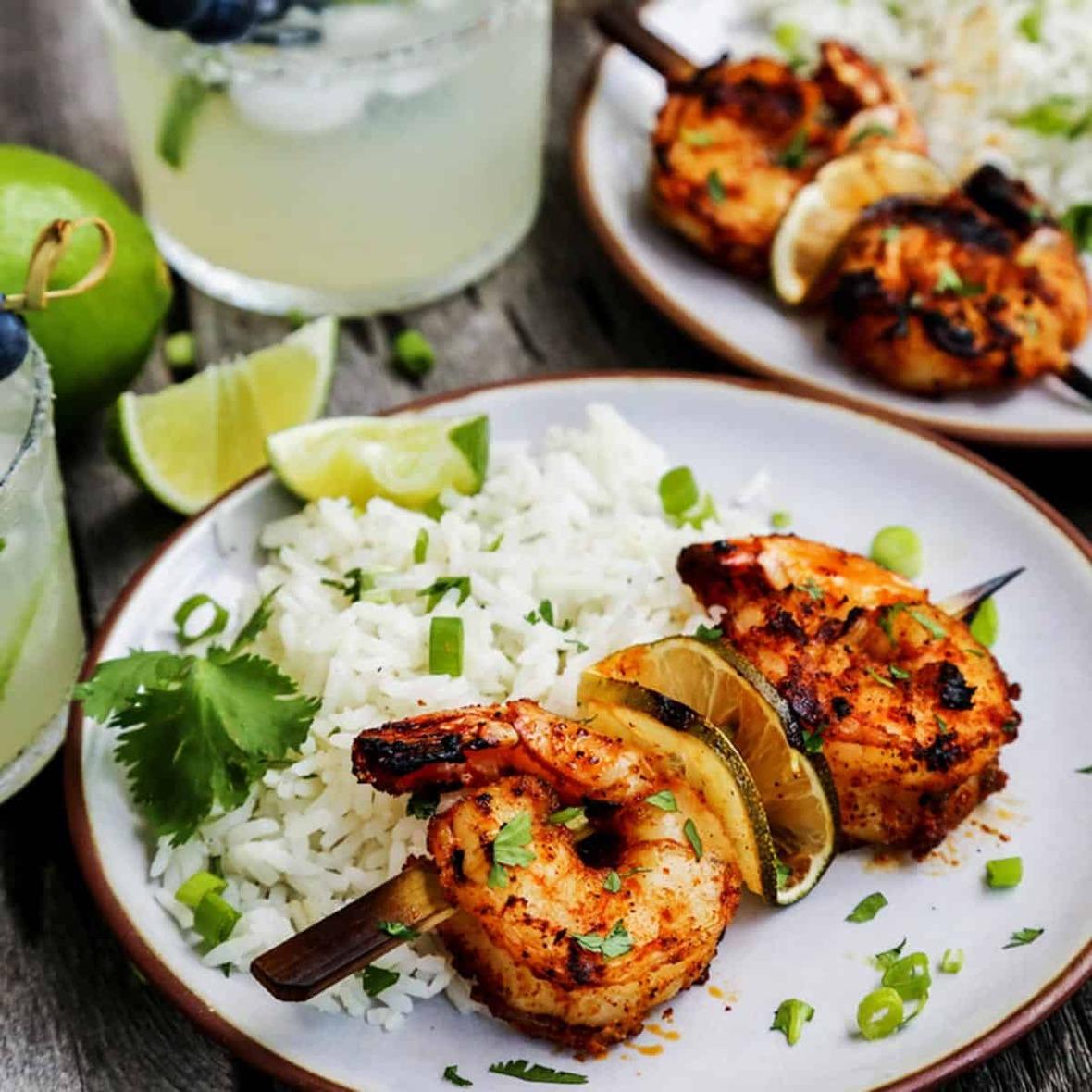 Grilled-Margarita-Shrimp-Kebabs AFarmgirlsDabbles AFD-4-2sq
