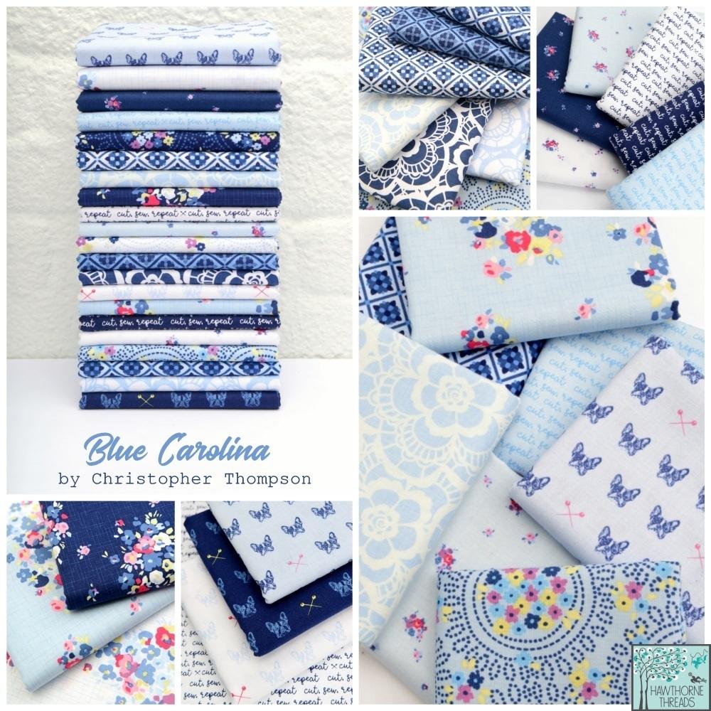 Blue Carolina Fabric Poster