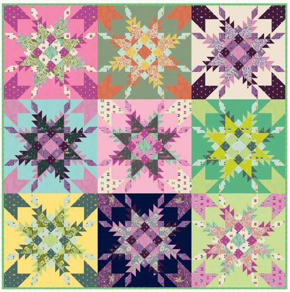 Freespirit- free quilt pattern  feathered stars
