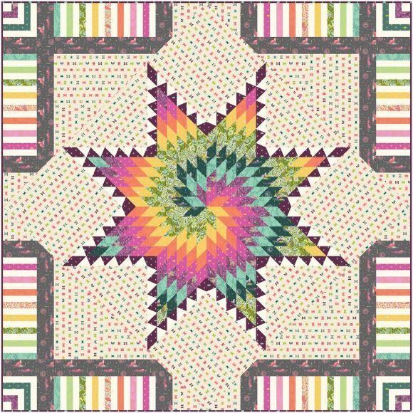Freespirit- free quilt pattern  starburst quilt