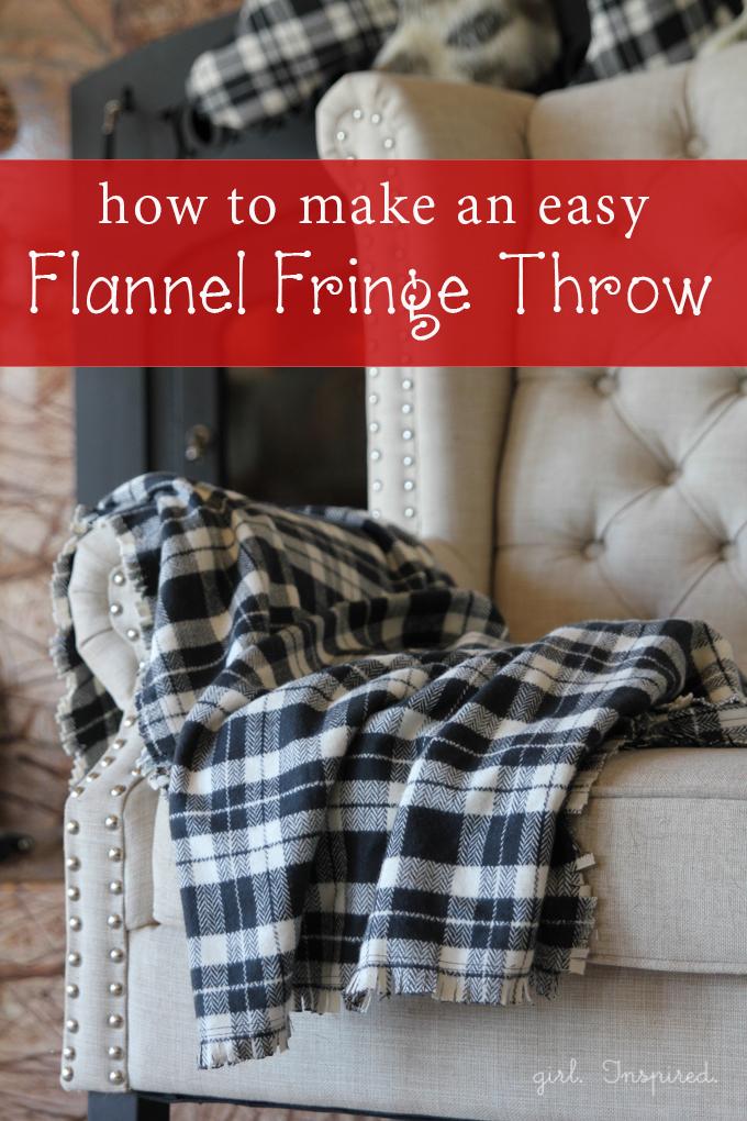 The Girl Inspired- Flannel Fringe Throw Blanket