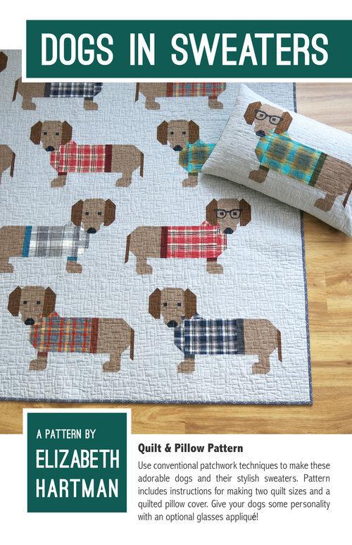 elizabeth hartman dogs in sweaters sewing pattern