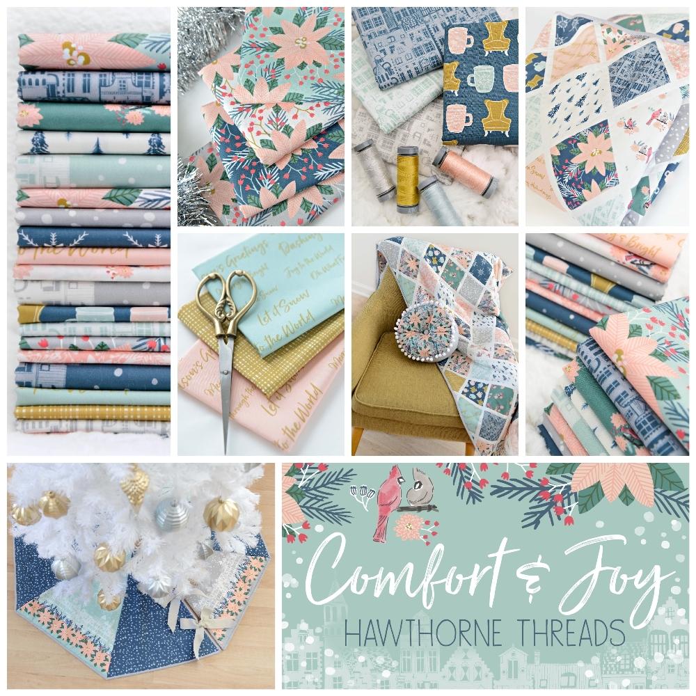 Comfort and Joy Christmas Fabric Poster 1000