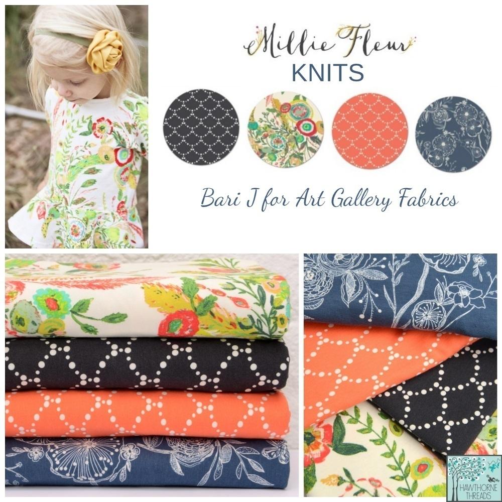 Millie FLeur Knit fabric poster