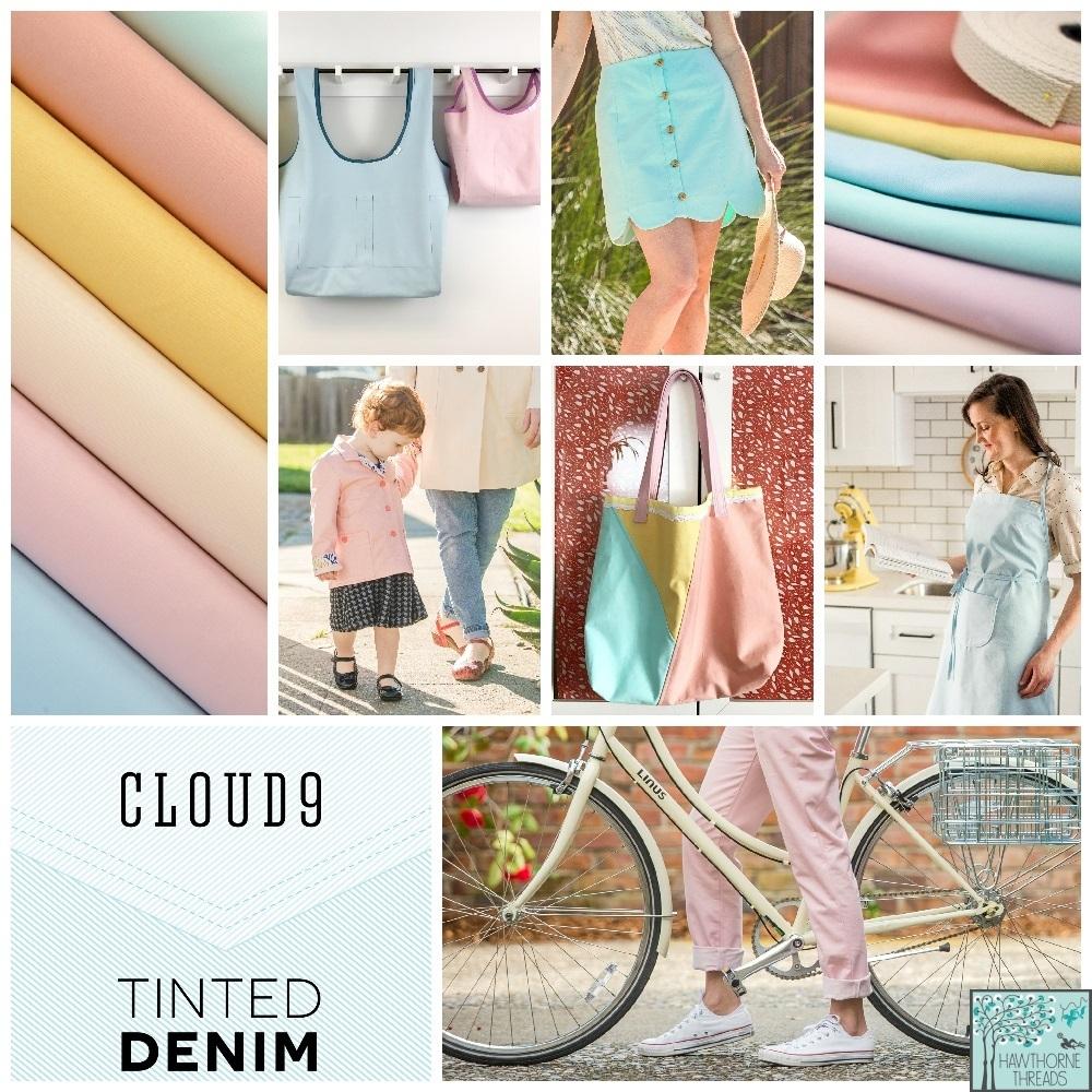 Tinted Denim Fabric Poster