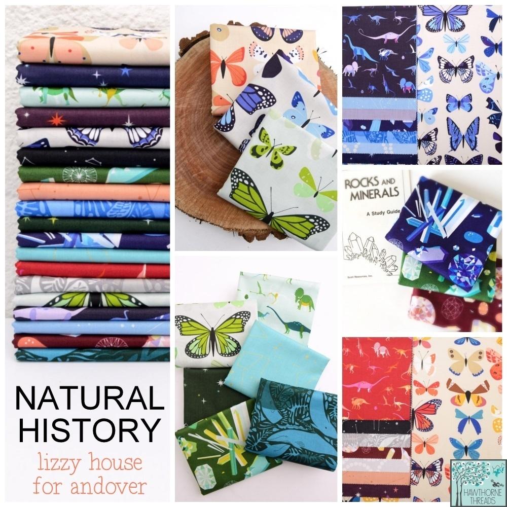 Natural History fabric poster