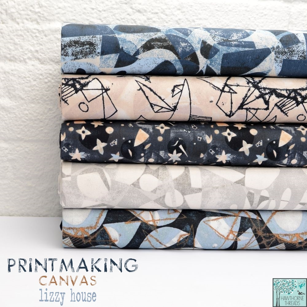 Printmaking Canvas Fabric Lizzy House