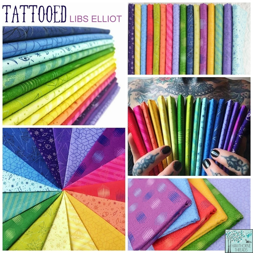 Tattooed fabric poster