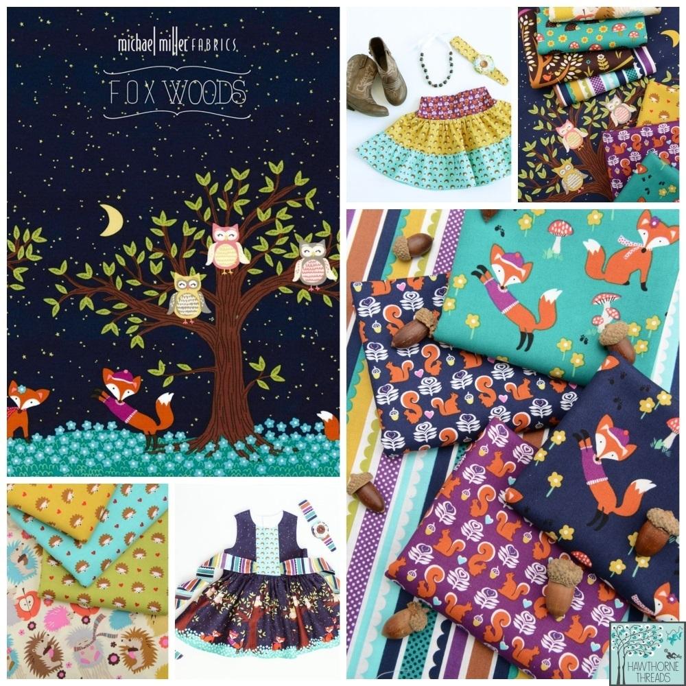 fox woods fabric poster