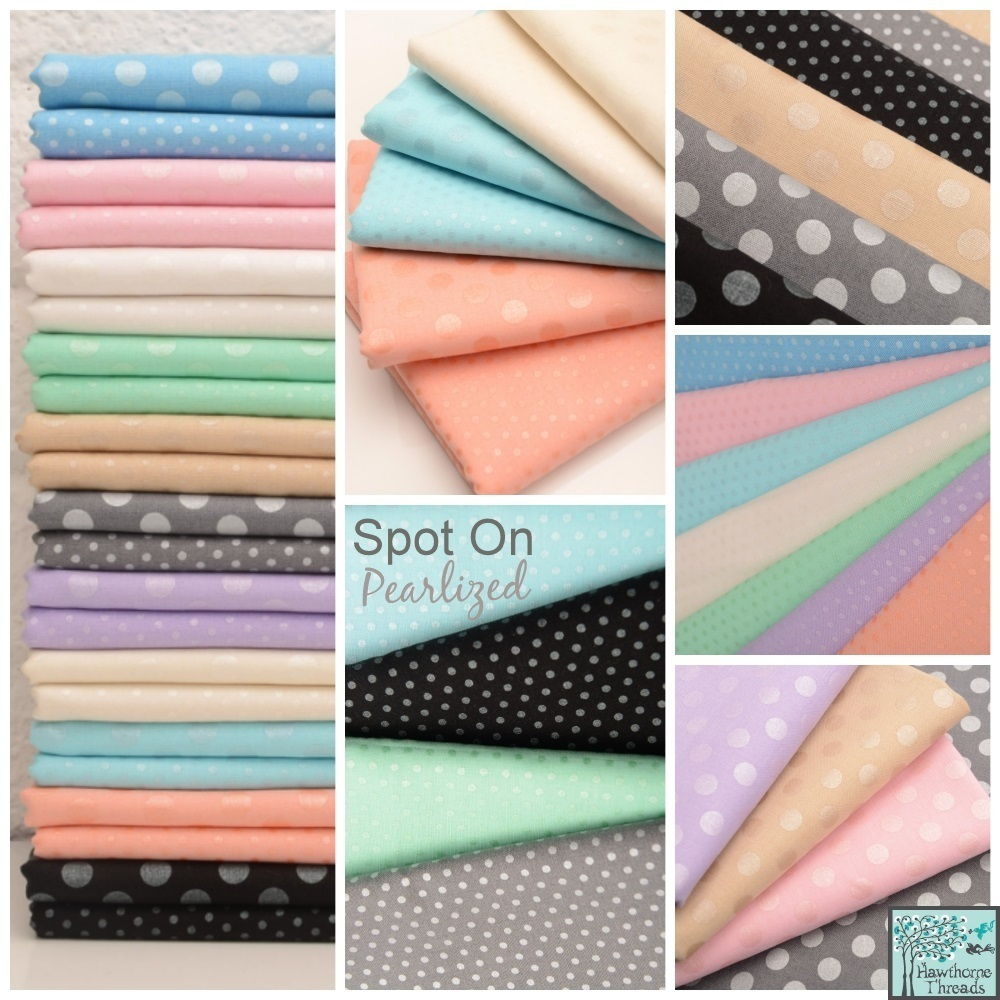 spot on pearlized fabric poster
