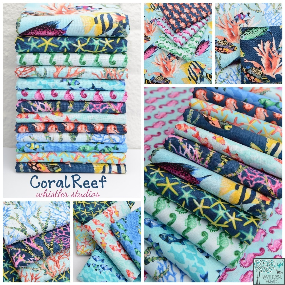 coral reef fabric poster