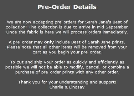 Sarah Jane Pre Order