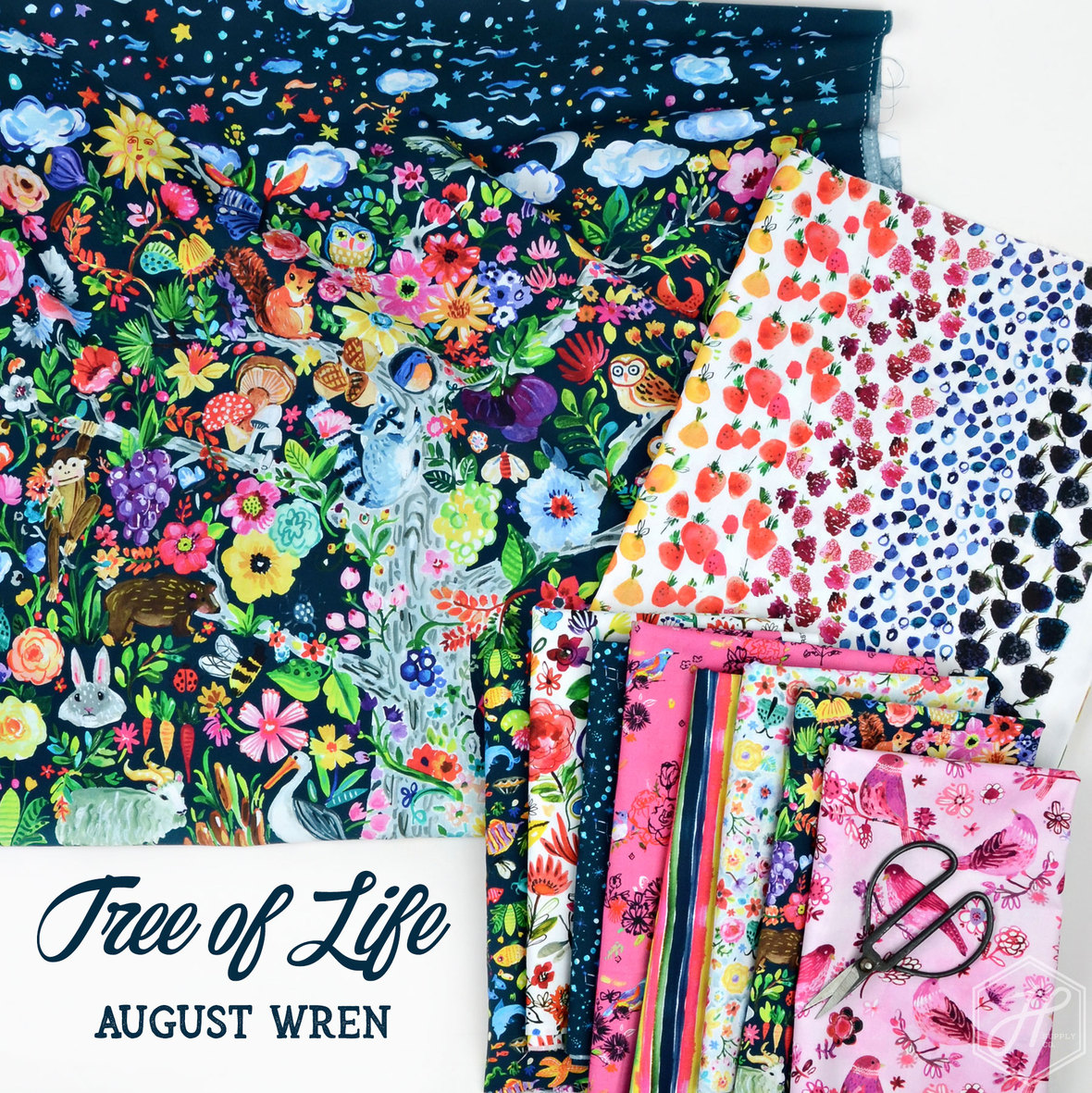 Tree-of-Life-Fabric-August-Wren-for-Dear-Stella-at-Hawthorne-Supply-Co