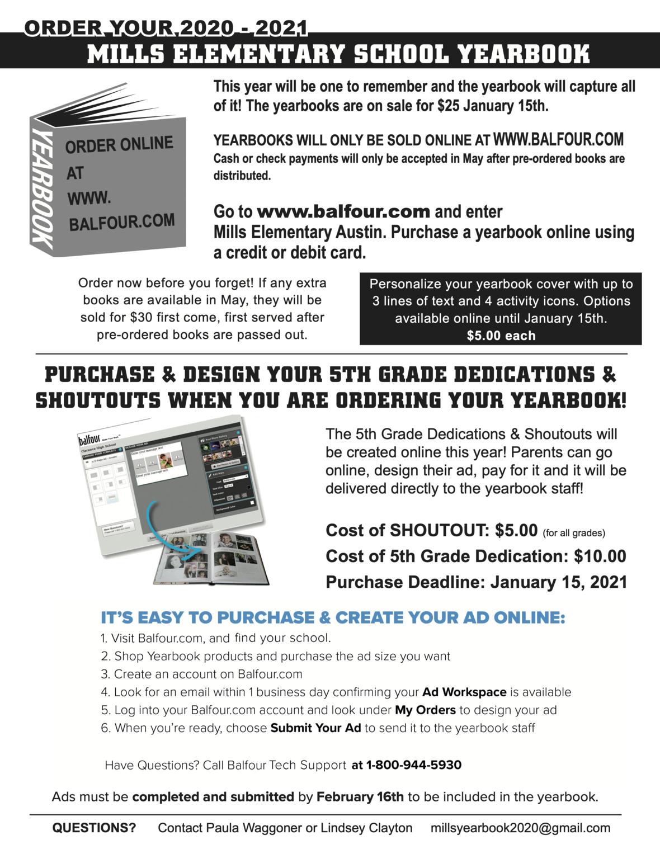 Mills yearbook sales ads 1