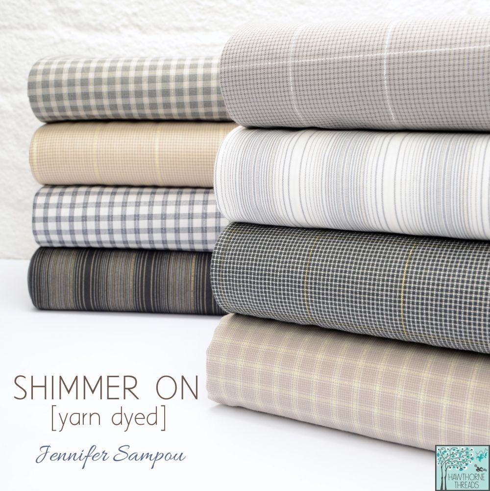 Shimmer On Yarn Dyed Fabric poster