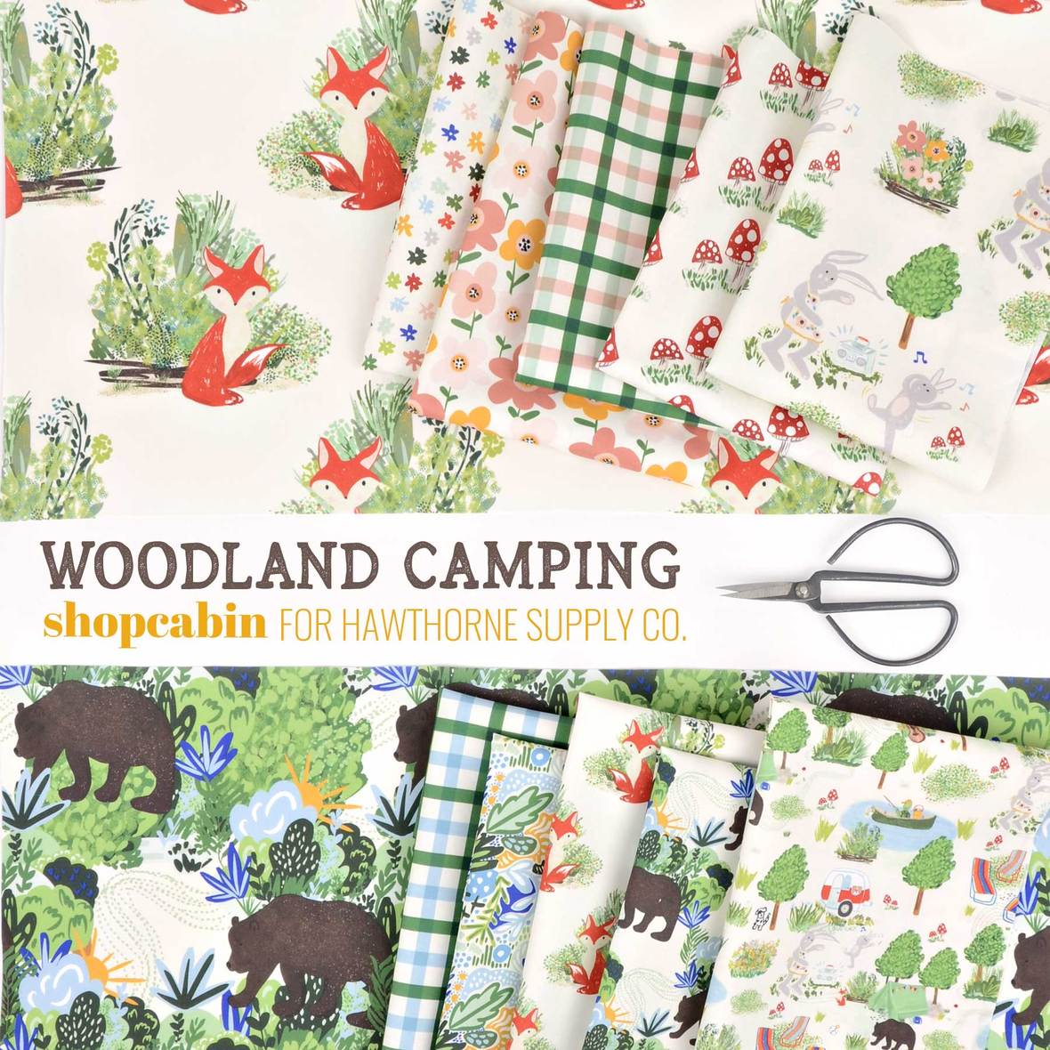 Woodland-Camping-Fabric-Shopcabin-for-Hawtorne-Supply-Co