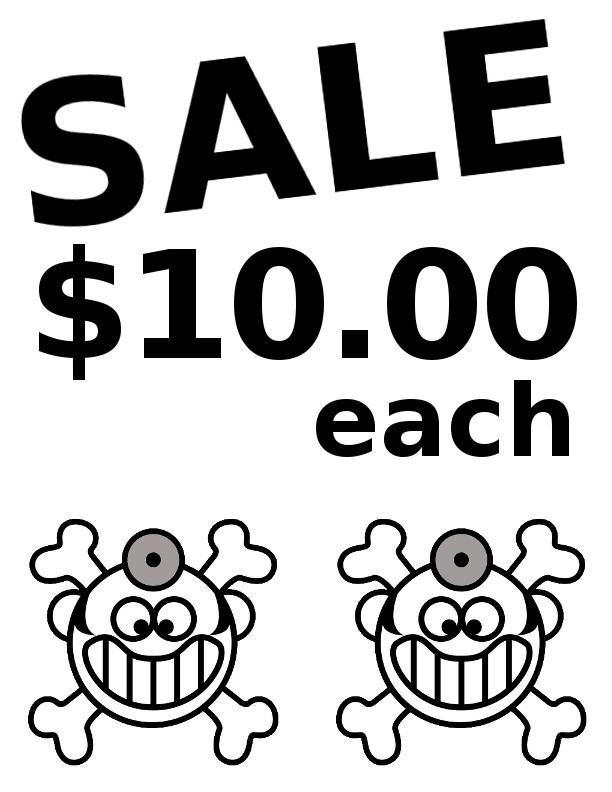 Sale-10Dollars-Each-Sign