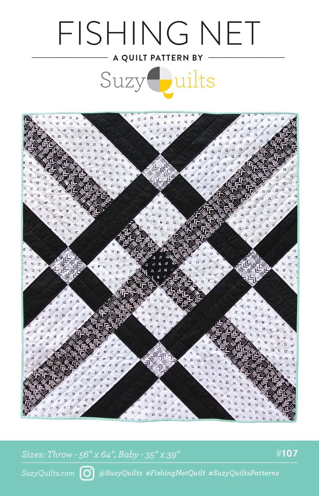 suzy quilts fishing net sewing pattern