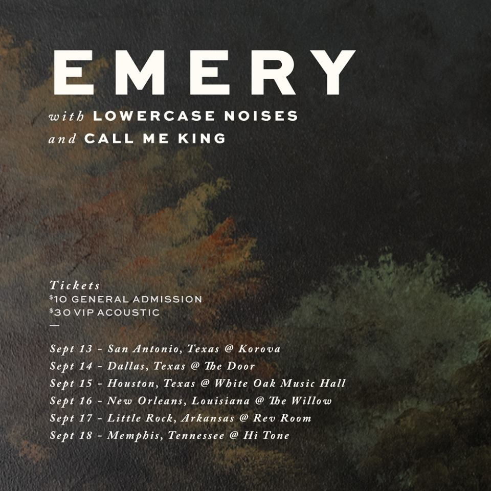 Emery Tour Announcement