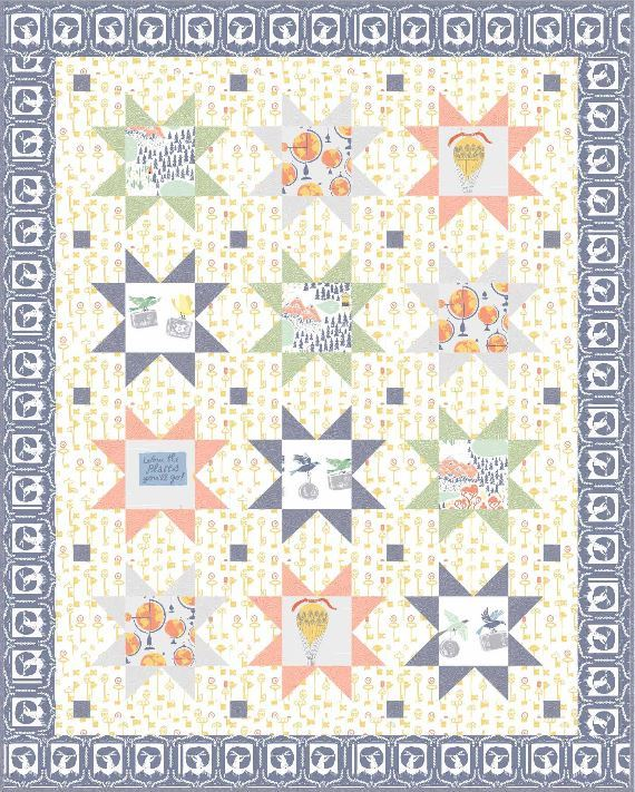 dear stella- Starry Journey Quilt - pattern for purchase