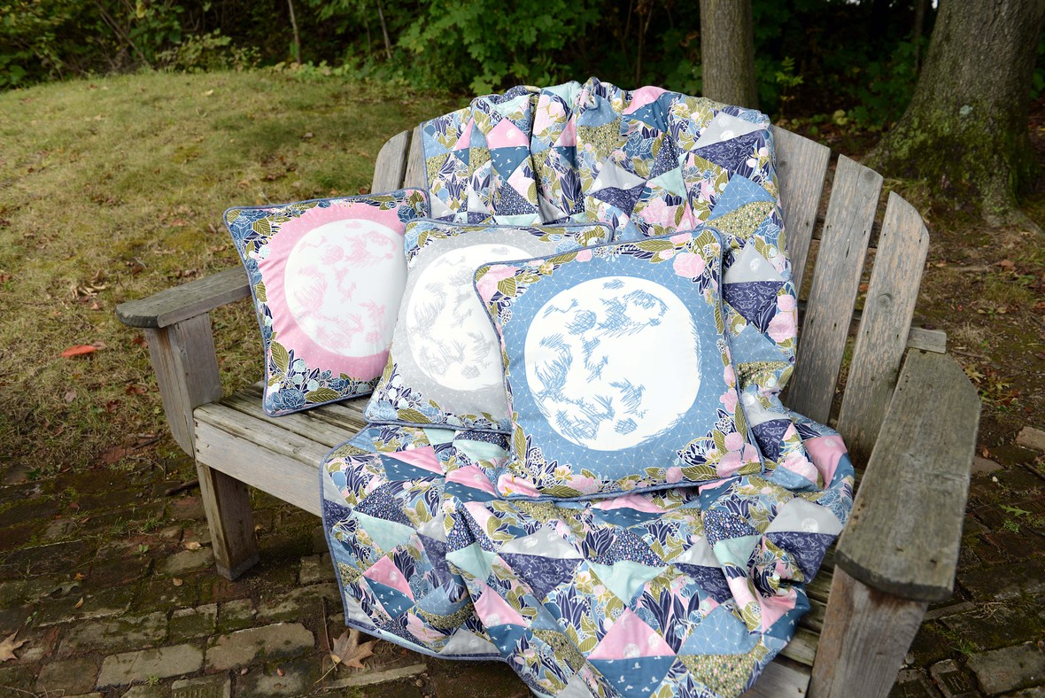 Moonlit Faux Patchwork Quilt