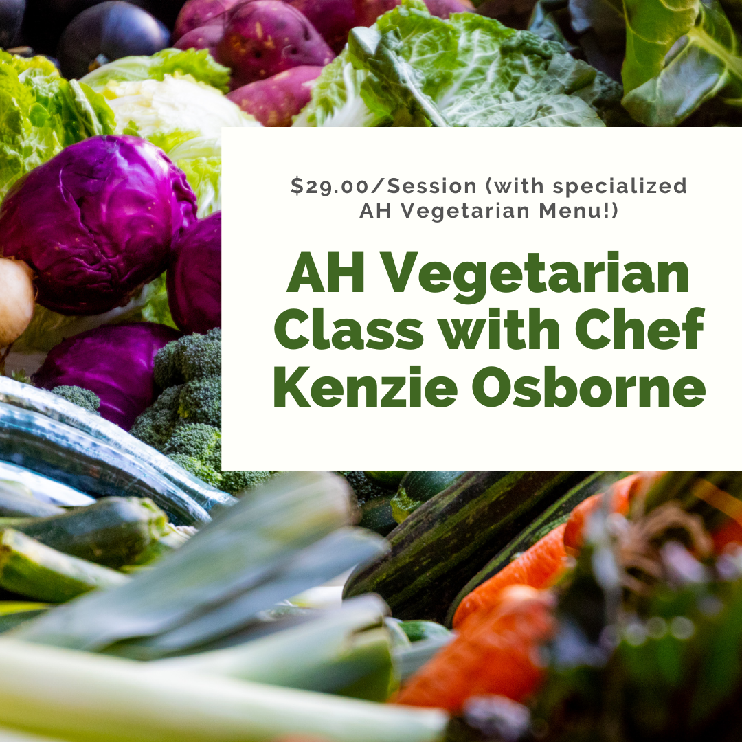 Kenzie Classes - Vegetarian Class