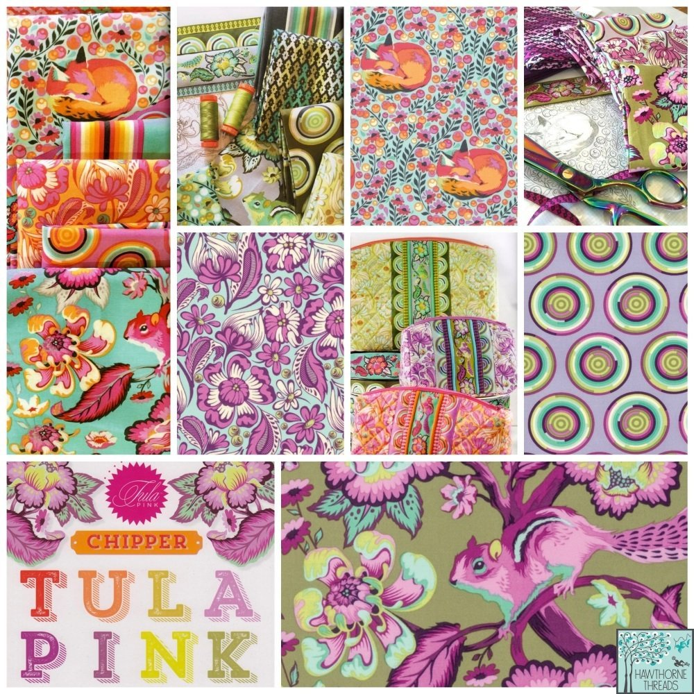Chipper Fabric Poster Tula Pink
