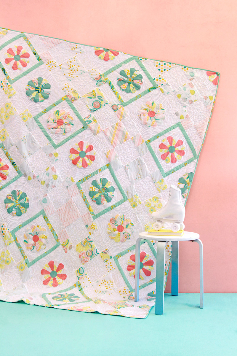 agf studio petal patch quilt kit sewing pattern
