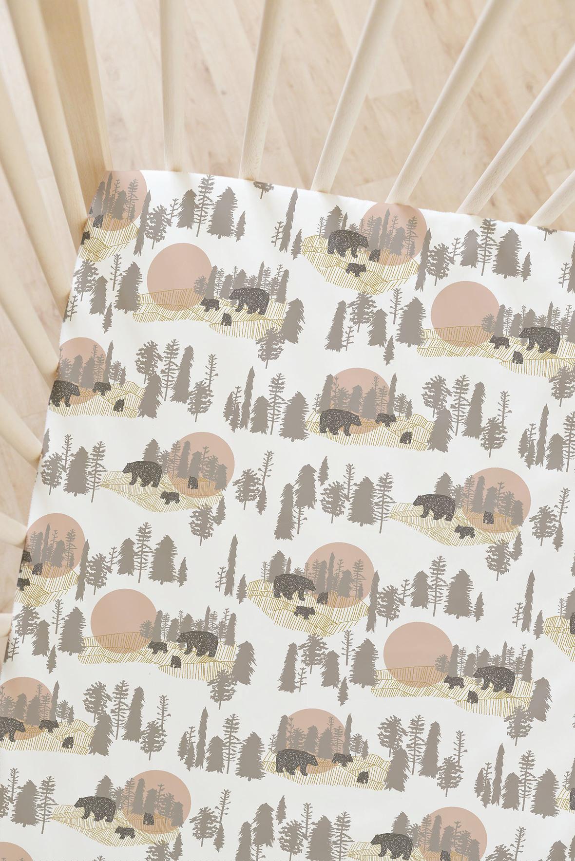 Bears Redwood Fabric Hawthorne Threads