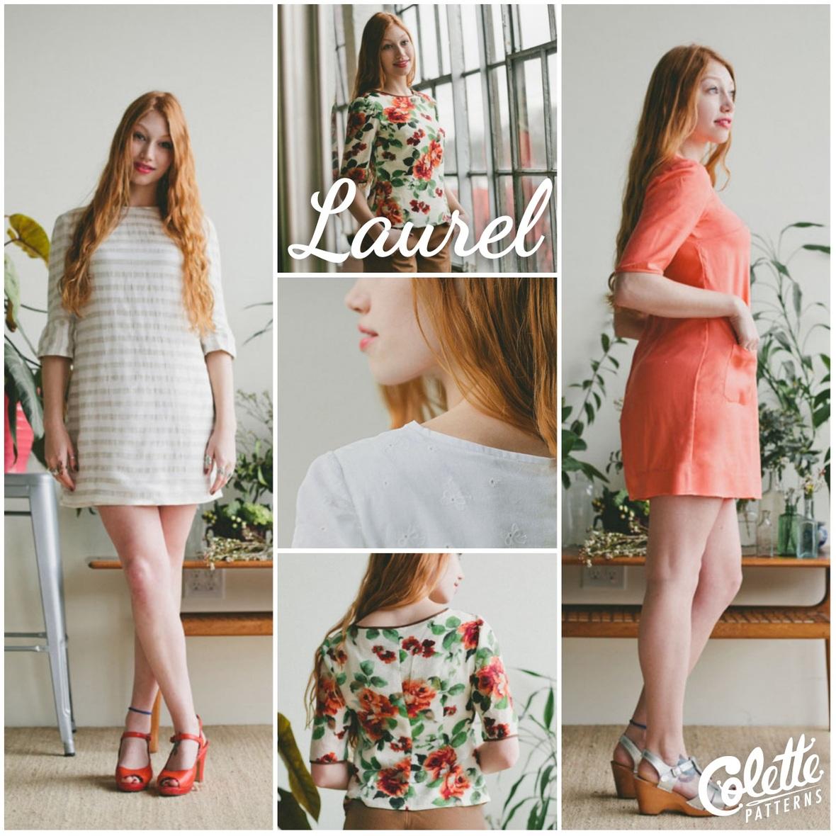 colette patterns laurel dress sewing pattern