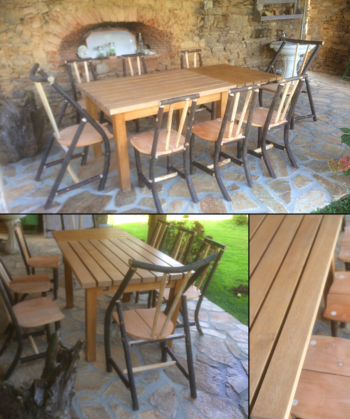 0 table jardin chaises