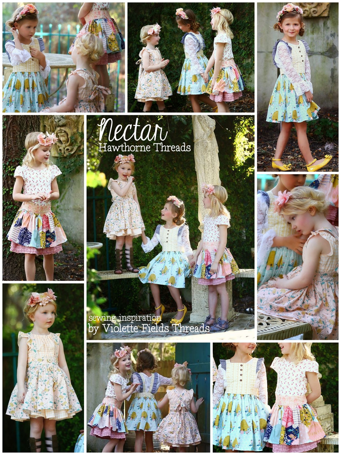 Nectar Fabric and Violette Fields Threads
