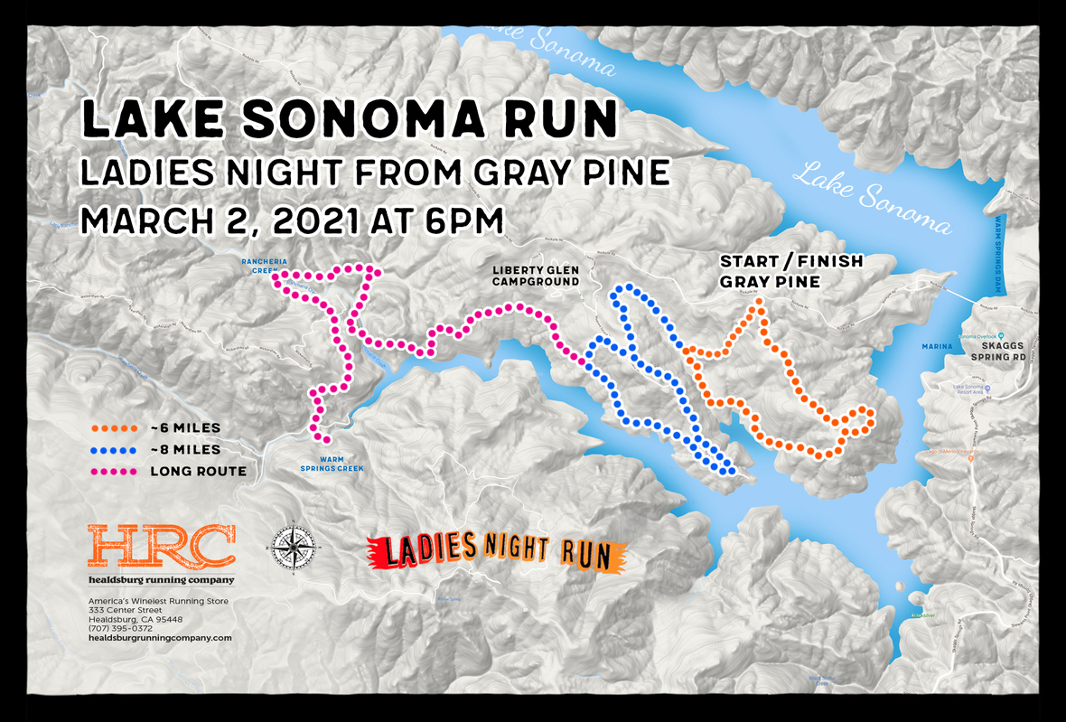 Lake sonoma gray pine map