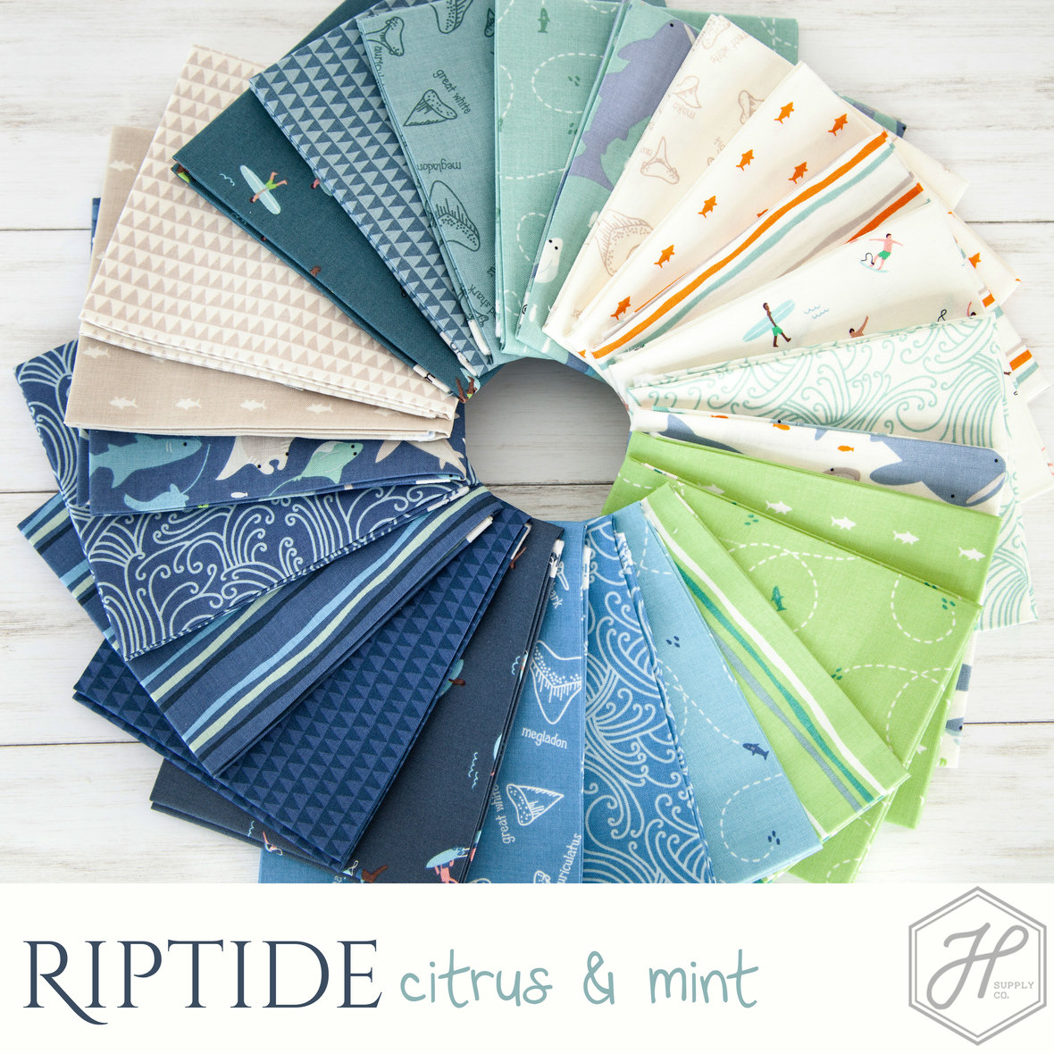 Riptide-Citrus-and-Mint-fabric-Riley-Blake-at-Hawthorne-Supply-Co