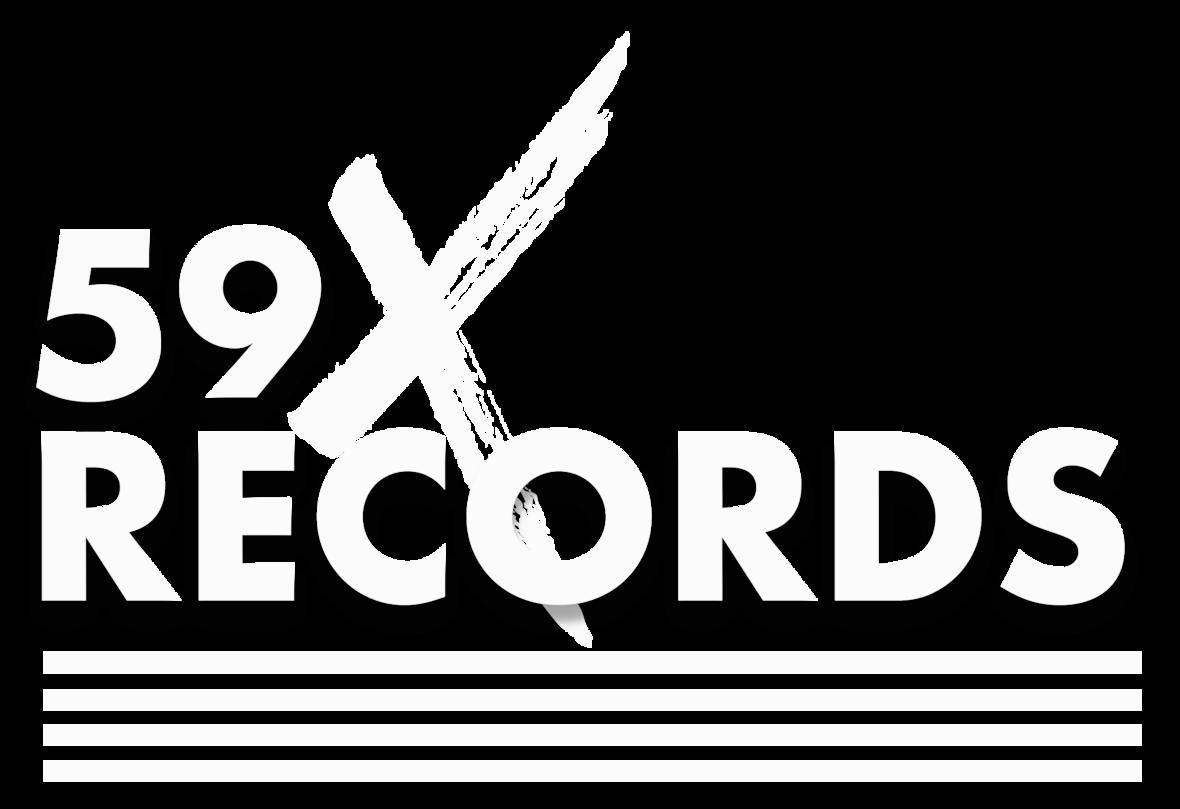 59 X Records Logo White - Transparent