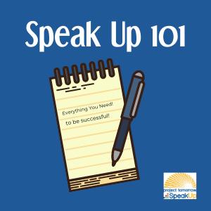 Why Participate - Speak Up