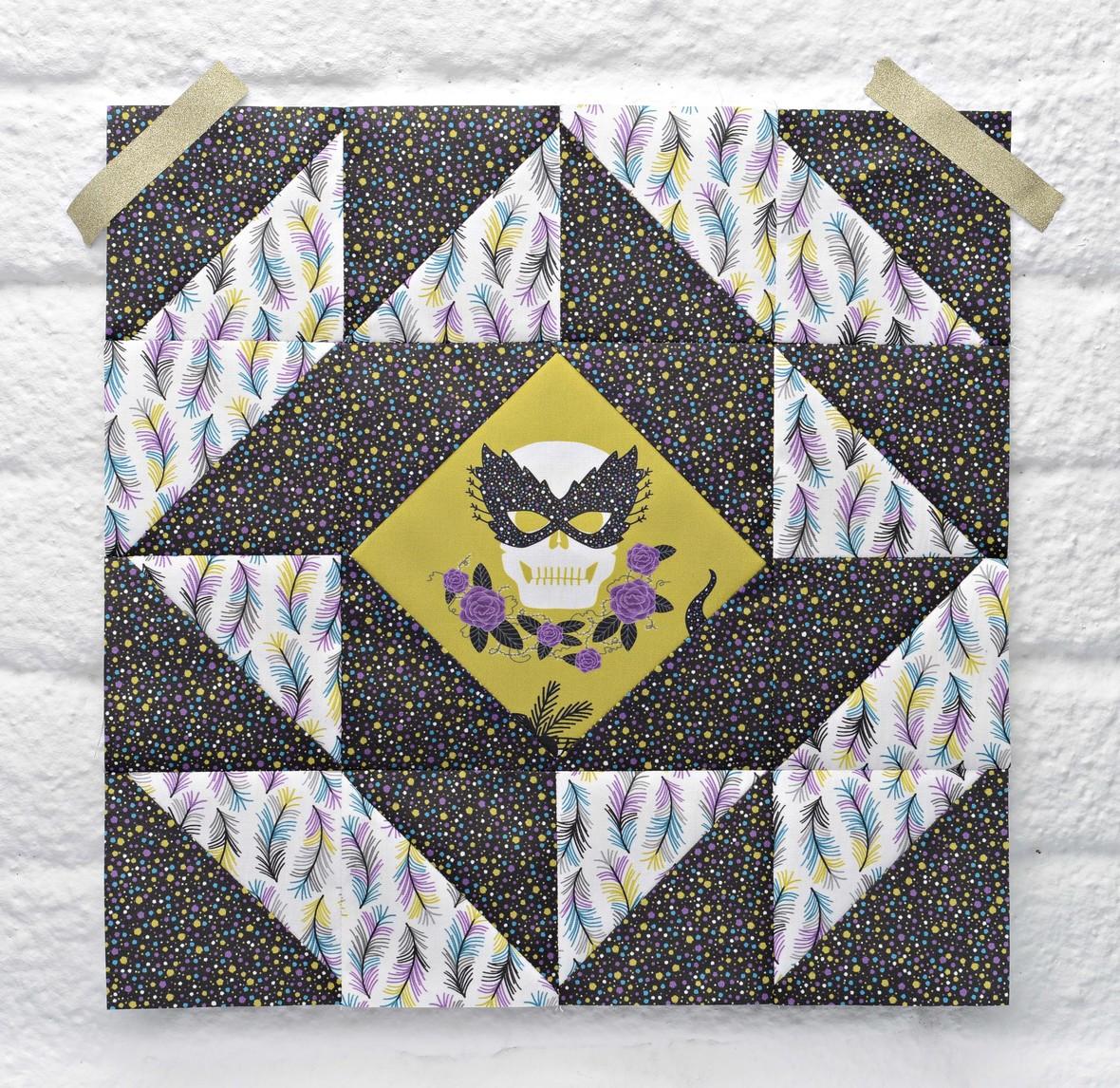 Masquerade Quilt Block