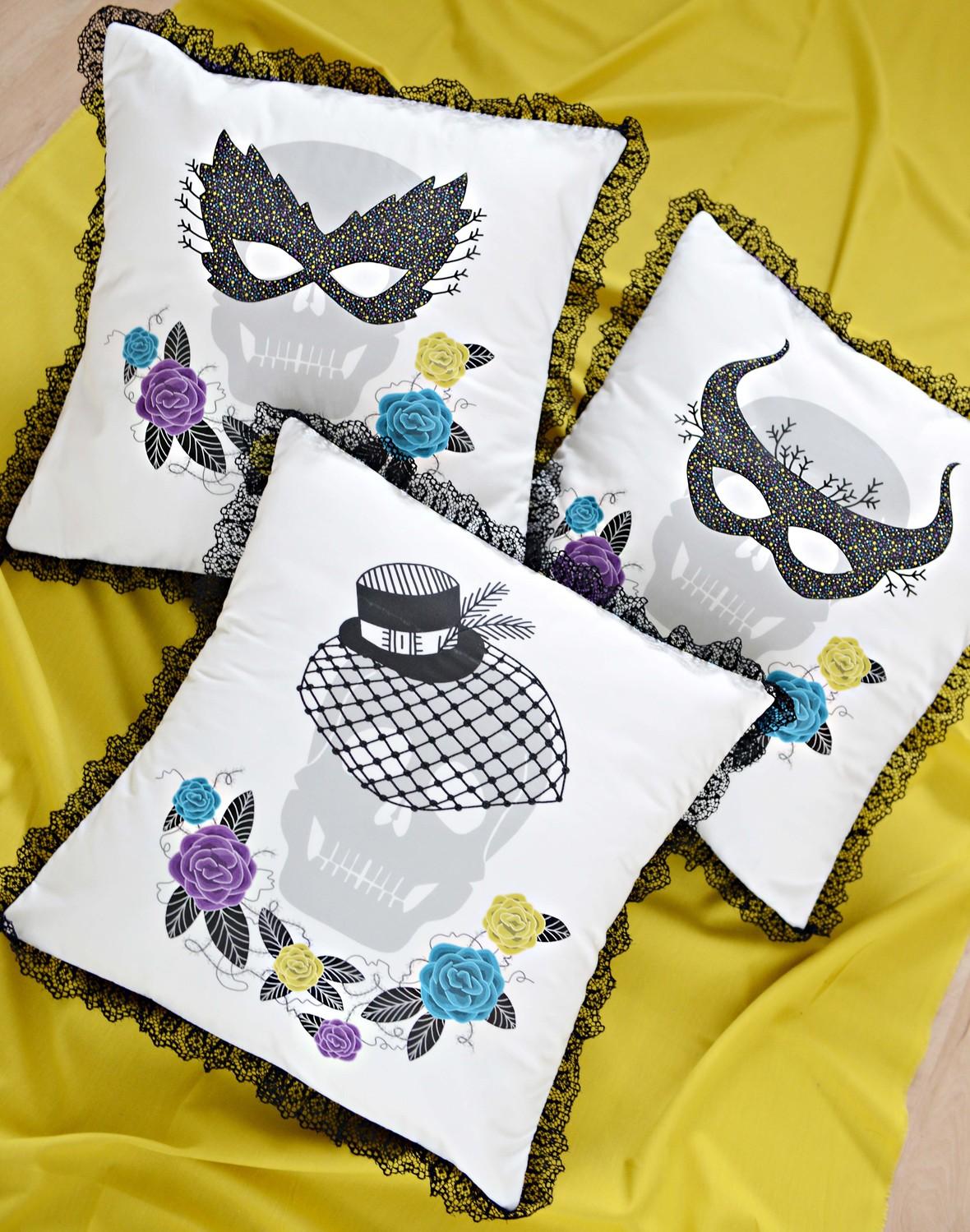 Masquerade Fabric Pillows