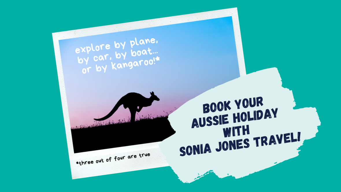 Book Aussie with SJT Banner