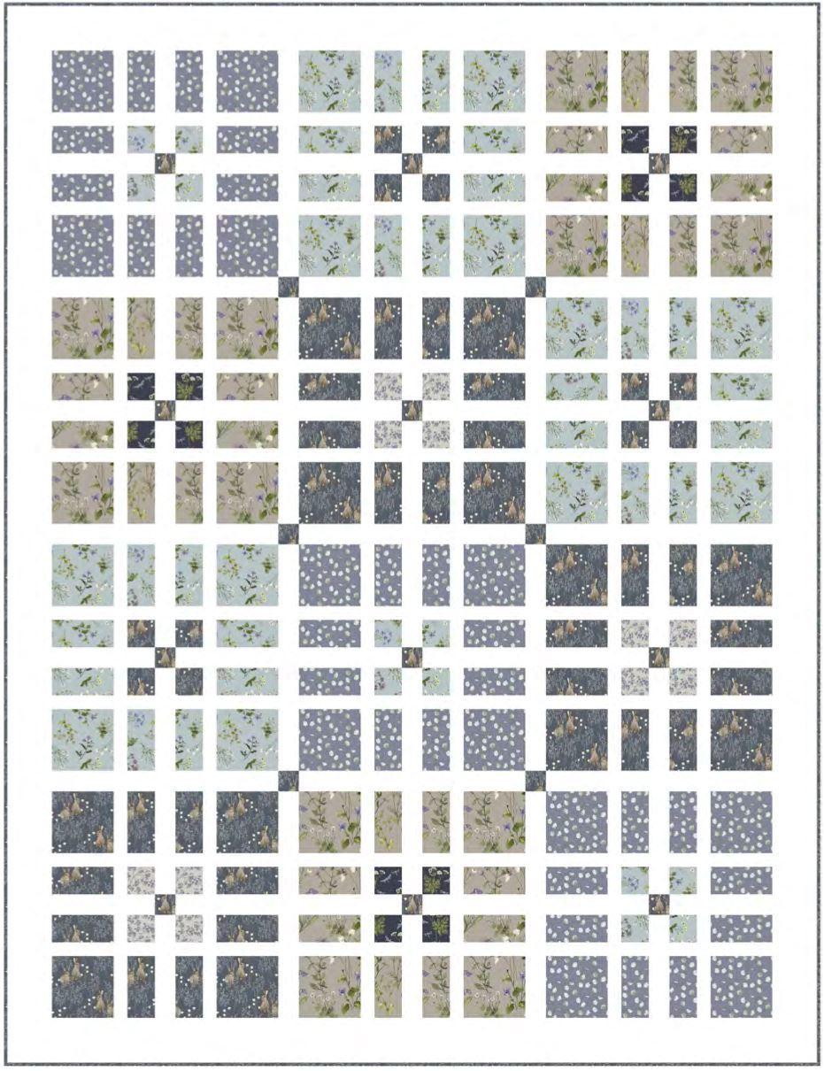 Windowpane free quilt pattern