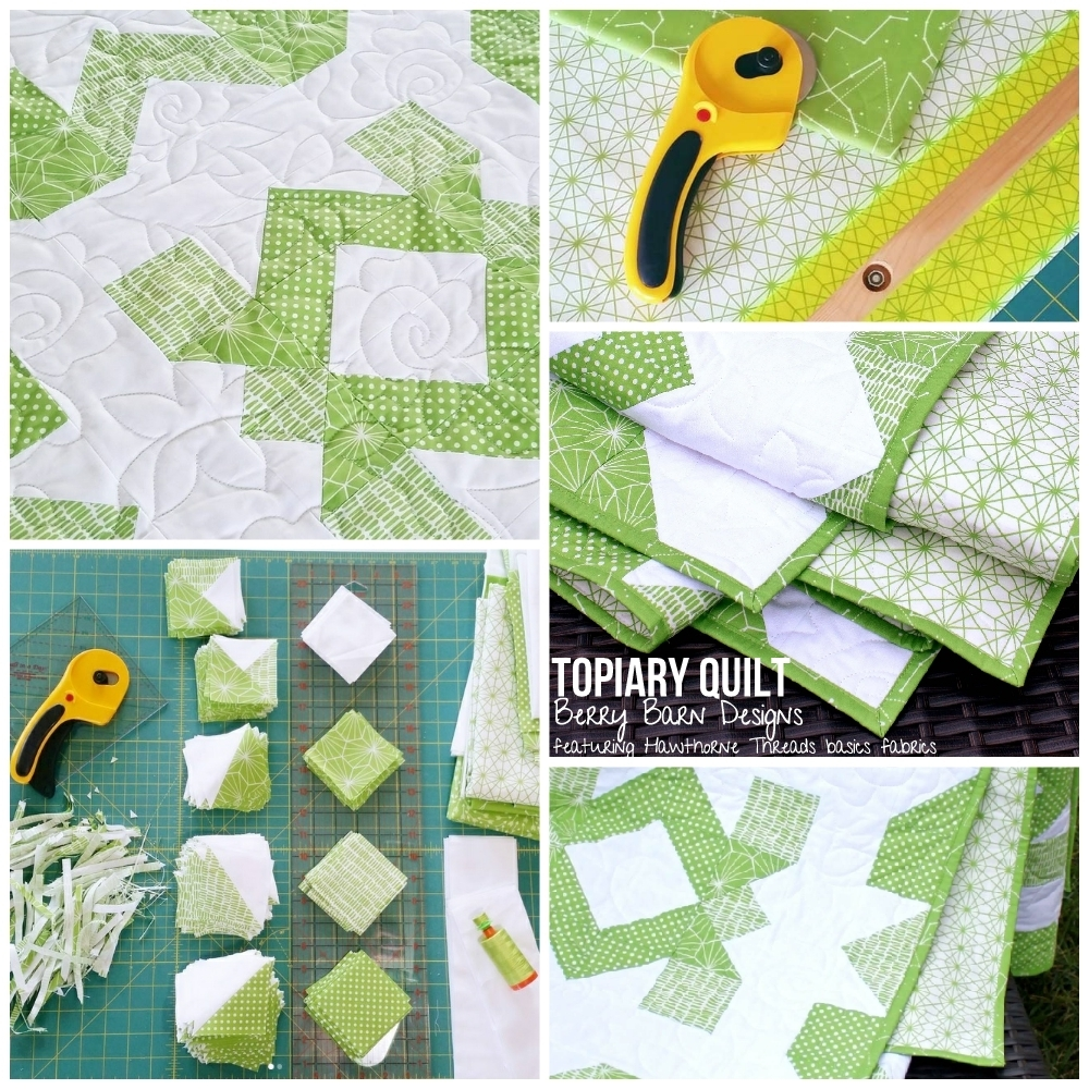 Topiary Quilt by Berry Barn Designs in Hawthorne Threads Greenery